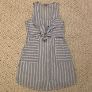 Pink Lily boutique baby blue and white Dress